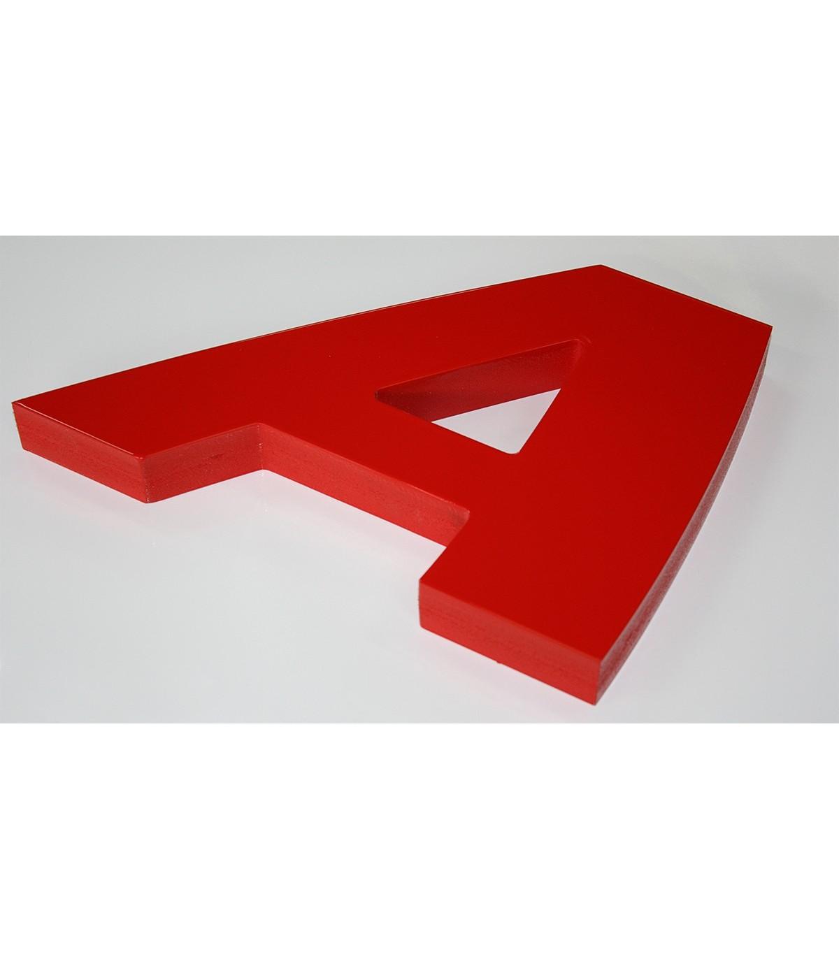 Lettre en plexiglas