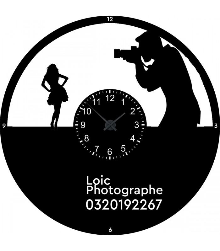 Horloge personnalisée photographe