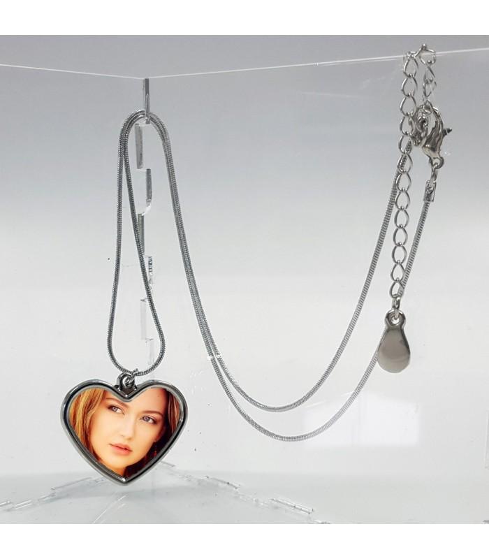 Pendentif coeur et sa chaine