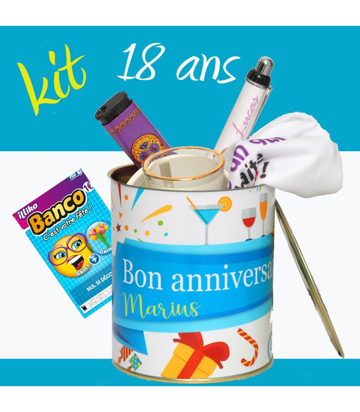 Idée Cadeau 18 Ans GarçOn Le kit cadeau super original pour fêter les 18 ans d'un jeun