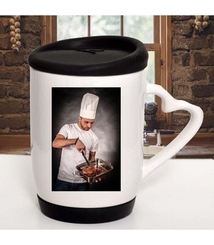Mug avec couvercle