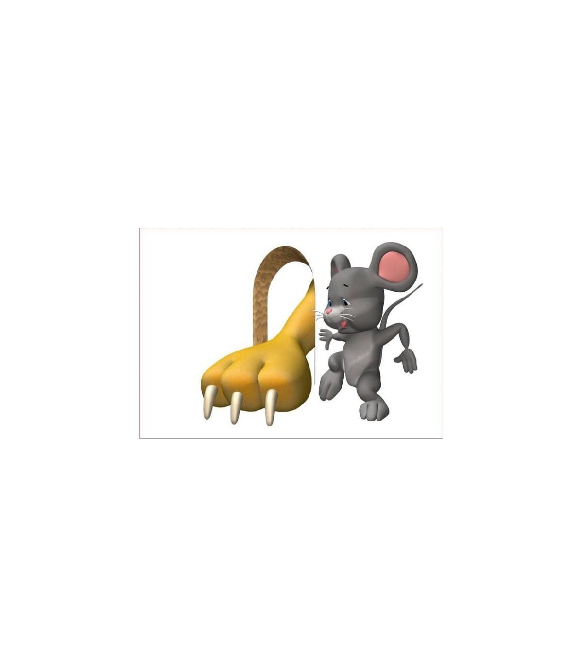 Sticker souris et patte de chat