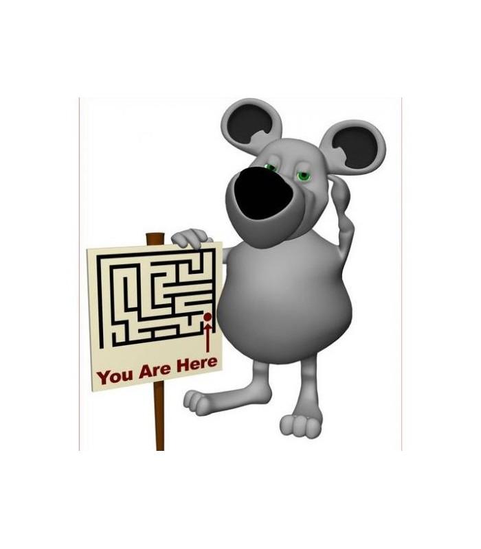 sticker souris et panneau