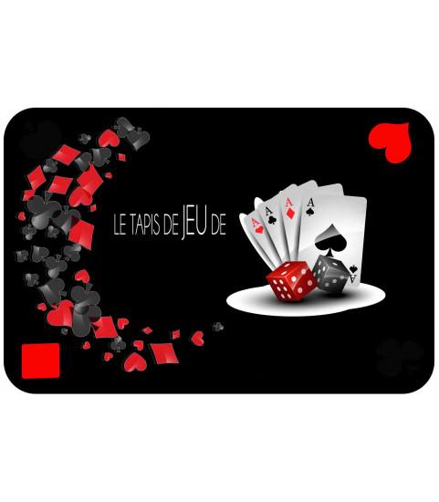 Tapis de jeu noir design personnalisé