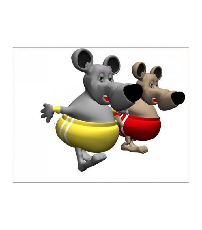 sticker souris au bain