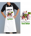 Tablier cuisine pour végétarien