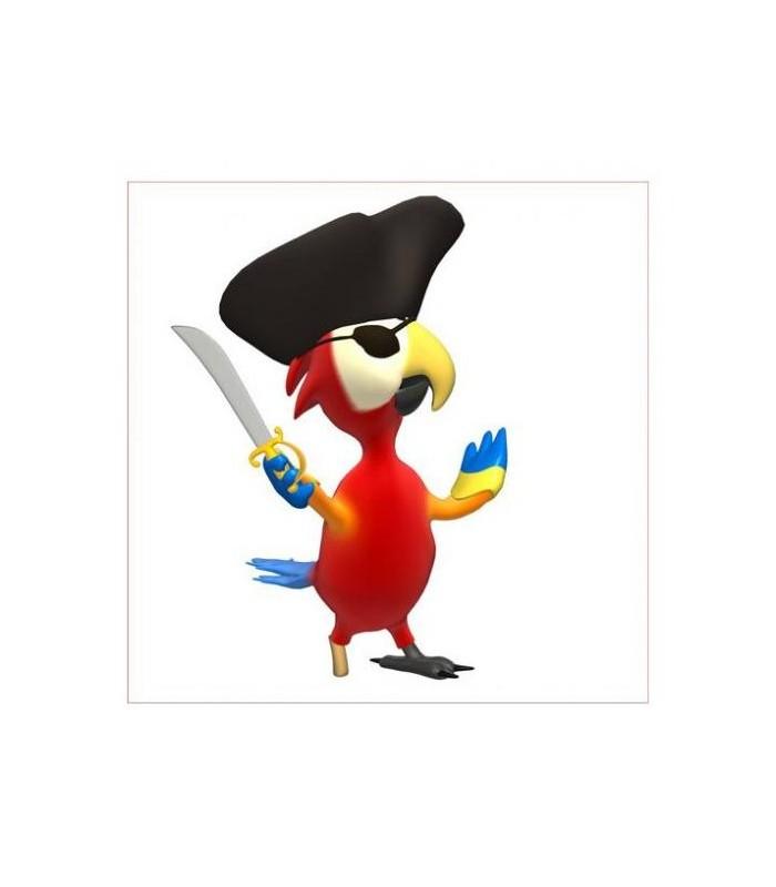 sticker perroquet pirate
