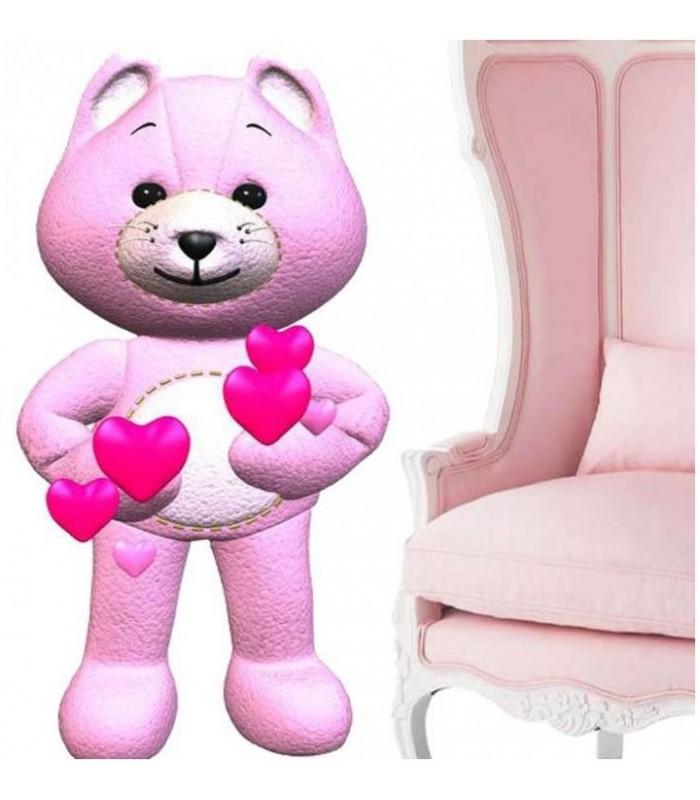 sticker ours et coeur