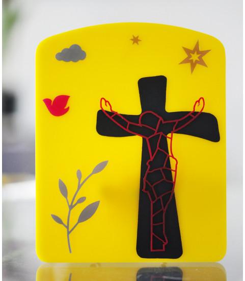 Plaque jésus sur la croix