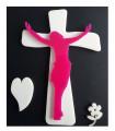 Plaque jesus sur croix moderne
