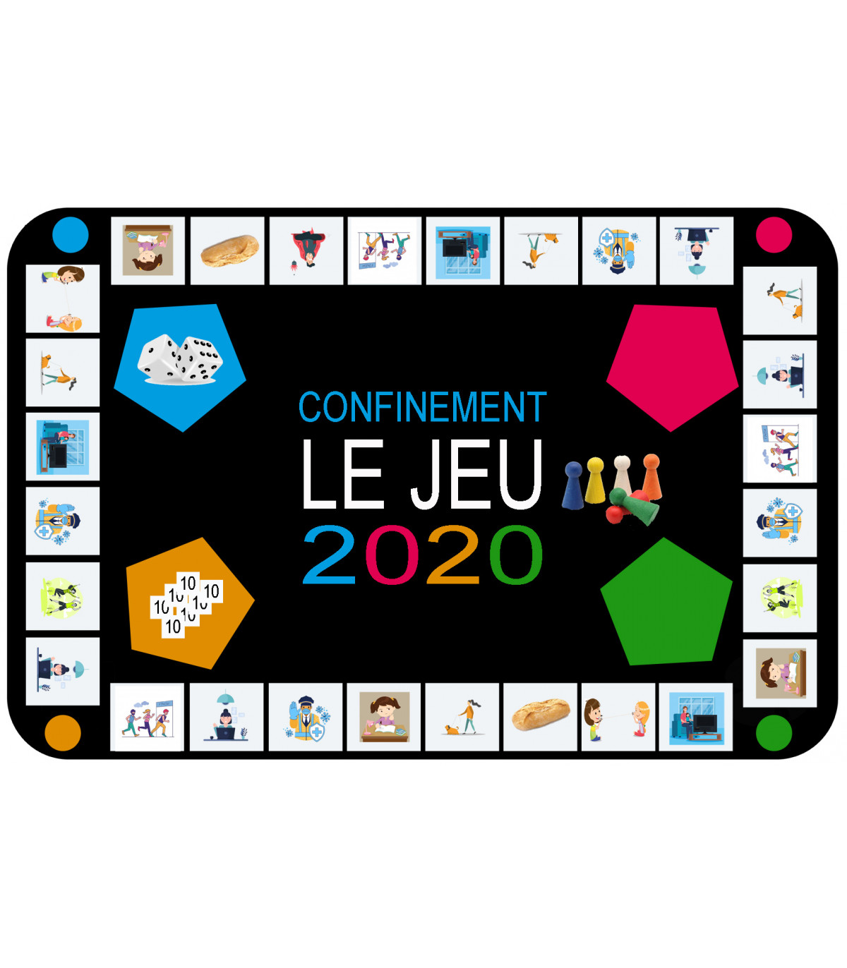 Jeu du confinement coronavirus