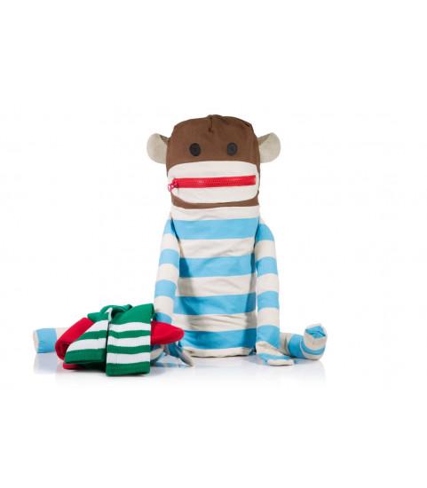 panier chaussette singe