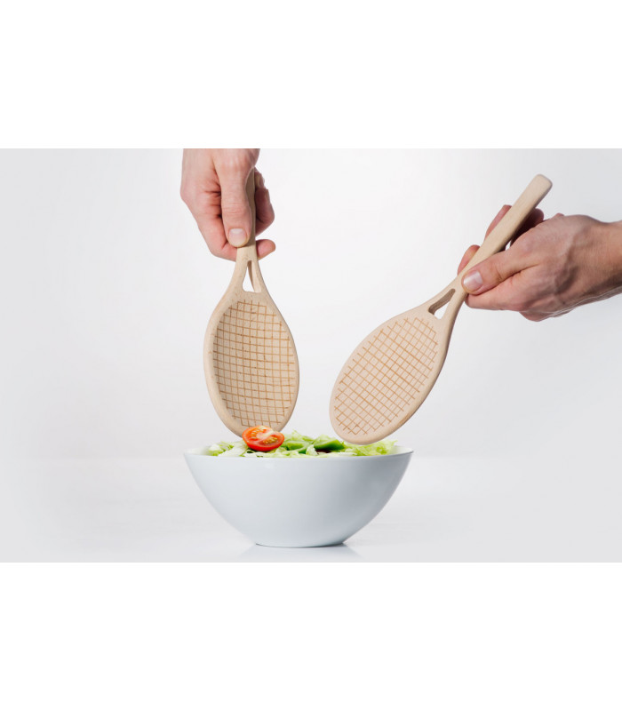 Cuillère en bois raquette de tennis