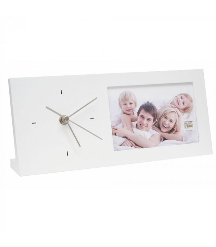 Horloge bois blanche