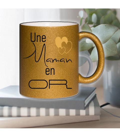 mug couleur or