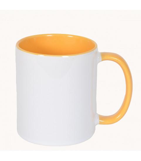 mug jaune personnalisé