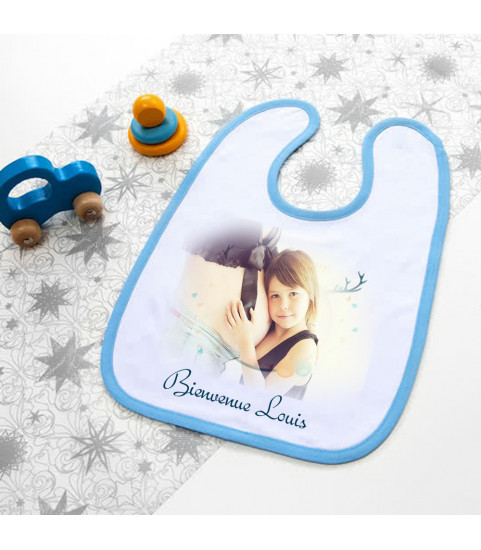 bavoir bebe avec photo