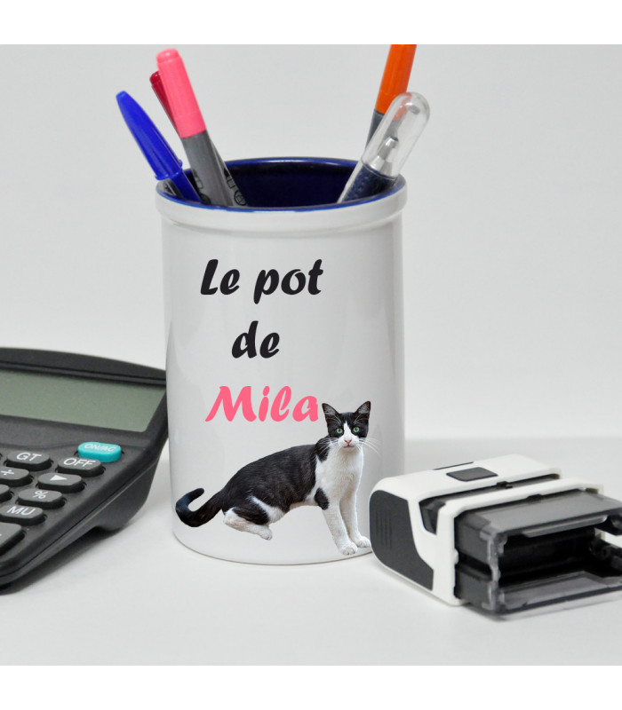pot a crayons avec photo