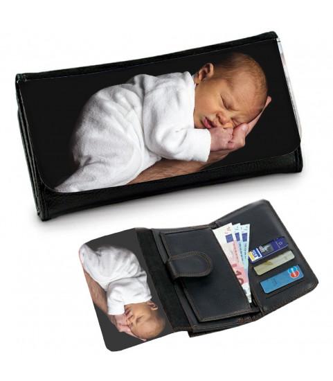 portefeuille photo bebe femme