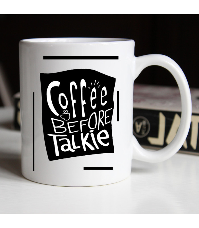 Mug petit café avant de parler