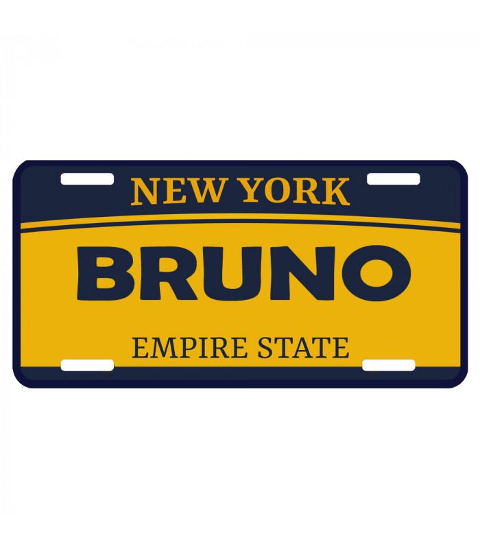 Plaque usa immatriculation New York