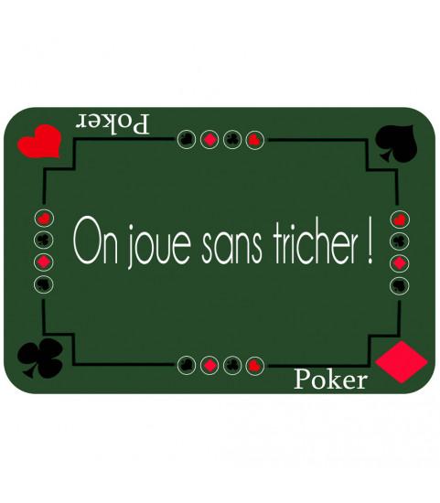 tapis de poker personnalisé