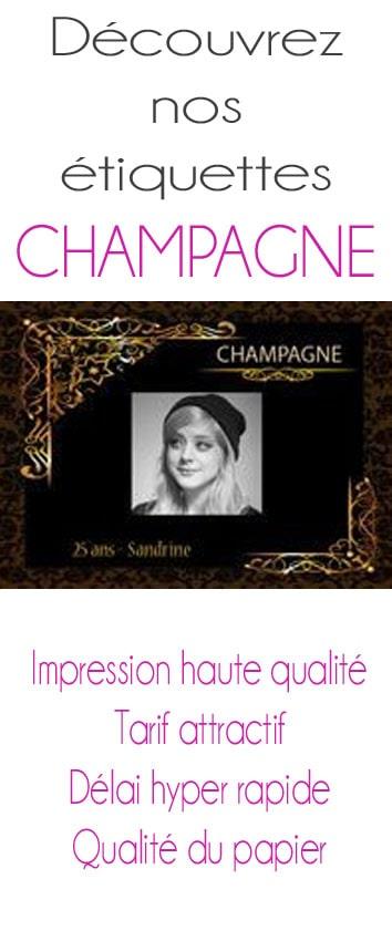 etiquettes champagne