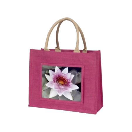 sac en jute couleur rose