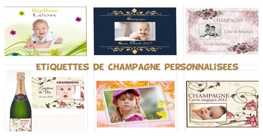 Les étiquettes de champagne personnalisées